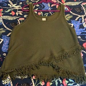 Knit Fringed Tank Top